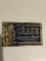 Vintage Chase Candy Inc. Plaque Size Sign