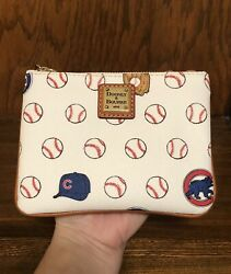 NWT Dooney and Bourke MLB Chicago Cubs Limited Edition Stadium Wristlet $108 $65.00