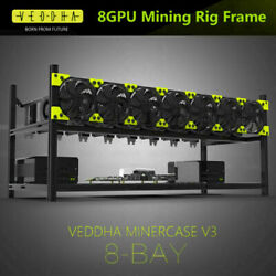 Us Stock 8gpu Stackable Open Air Mining Rig Frame Case Computer Ethereum Eth Btc