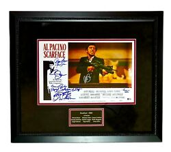 Al Pacino Autographed Signed Scarface 11x17 Cast Photo Poster Framed Beckett Bas