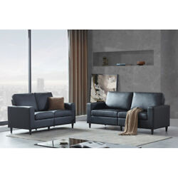 Modern Pu Leather Loveseat Sectional Sofa Couch Furniture Upholstered 2+3 Seat