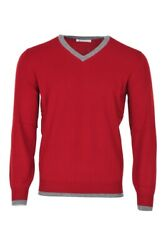 Brunello Cucinelli Pullover Menand039s 46 Ruby Red Cashmere Sale Knitted