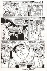 Gordon Purcell Signed Young Indiana Jones 11 Original Art Page Dan Barry Story