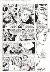 Gordon Purcell Signed Young Indiana Jones 12 Original Art Page Dan Barry Story