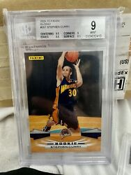2009-10 Panini Stephen Curry 307 Rookie Golden State Bgs 9 Mint Hof