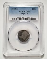 1823/2 Large Eand039s 10c United States Capped Bust Dime - Pcgs G 04