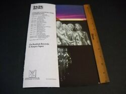 Isis All-female Horn Rock Band Summer 1974 Tour Dates Promo Poster Flap-ad