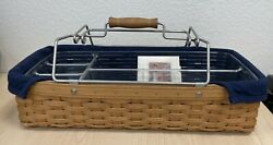 Longaberger Household Utility Basket With Liner 5 Way Divided Tool Carrier