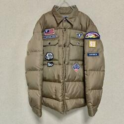 A Bathing Ape Brand Boy Scout Down Shirt Down Outer Jacket Product Size S Used