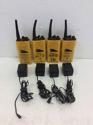 4x [motorola Hue3514a] P24srw03g2aa Talkabout Radios With Ac Adapters/batteries