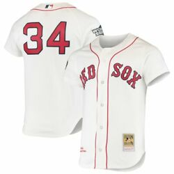 Boston Red Sox David Ortiz 34 Mitchell And Ness White 2004 Mlb Authentic Jersey