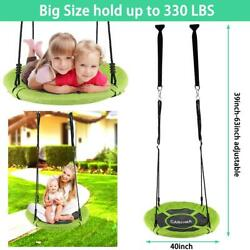 2021 40 Flying Saucer Tree Swing Hanging Seat 330lb Max For Childrens Outdoor