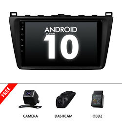 Cam+obd+dvr+for Mazda 6 09-12 9 Ips Large Screen Car Radio Stereo Gps Bluetooth