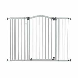 """Summer Extra Tall And Wide Safety Baby Gate, Cool Gray Metal Frame 38"""" Tall, Fits"""