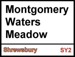 Montgomery Waters Meadow Sign Football Sign Shrewsbury Sign. Retro Wall Sign