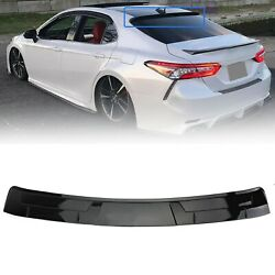 Glossy Black Rear Window Roof Spoiler Fit Toyota Camry Le Se Xse Xle 2018-21 Qf