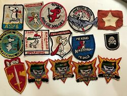 Combo X Snoopy Ussf Flash Flag Patch Usaf Vietnamw Patch