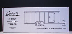 Galaxie 21 Foot Enclosed Car Trailer Use With 124 Or 125 Scale Models