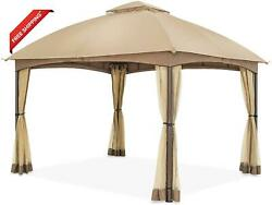 Cool Spot 10 X 12 Ft Patio Dome Gazebo W/mosquito Netting Two-tier Vented Top F