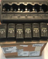 6 Frs Motorola Xts2500 M3 P25 Fpp 380-470 Encrypted Aes-256 W/batts And Charger