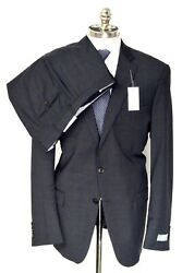 Nwt Hart Schaffner Marx Gray Check Worsted Wool 2 Btn Suit 46 L Eu 56 Drop 6