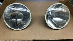 Vintage Cluteroche 7 Headlight - H4 Iode Made In France Pair