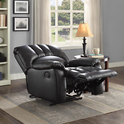 Recliner Chair Home Theater Comfort Big Tall Lazy Boy Chair Black Faux Leather