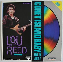 Lou Reed - Coney Island Baby - Live In Jersey Concert 1987 Rare Music Laserdisc