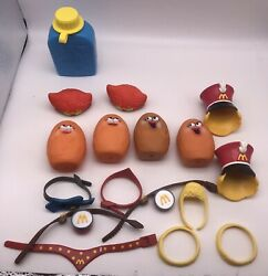 Mixed Lot Of 17 Vintage Mcdonald's Toys With Parts For Potato Heads 1988