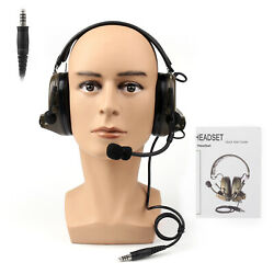 Tactical H50 Headset Used With Peltor Ptt / U94 Ptt For Kenwood Two Way Radio F7