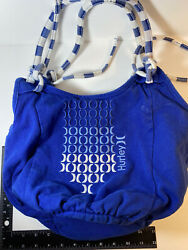 Hurley Beach Tote Bag Blue And White $14.00