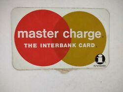 Master Charge Interbank Sticker Un-used Vintage Old