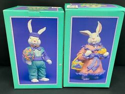Carrot Patch Collection Peter And Mrs. Cottontail 38175 W/box Approx 9