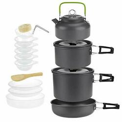 Jessie Camp Cookware Set Portable Cooking Mess Kit Cook Equipment For Outdoor Ca
