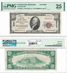 1929 National Currency Central City Ky 8229 Pmg Very Fine-25