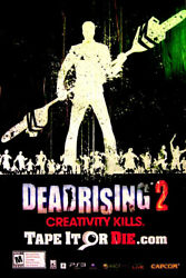 Dead Rising Original Video Game Poster Huge 4x6and039 Very Rare 2010 Mint Condition