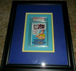 Rare 1969 Wacky Packages Ad 25 Good And Empty Psa Graded 6 Ex To Mint In Frame