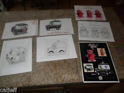 7 Lot Original Pink Panther Art Burger King Toy Pull-back Police Van And Hydrant