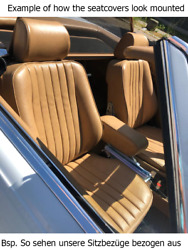 Seat Covers Suitable For Mercedes Benz W111 + Installation Recovered