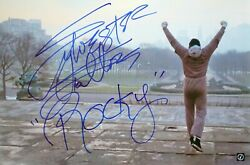 Sylvester Stallone Rocky Autographed 16x24 Museum Steps Color Photo Asi Proof