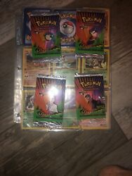 1st Ed Pokemon Gym Challenge Complete Non Holo Set And 4 Artwork 1st Empty Packs