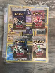 Pokemon Neo Discovery 1st Edition Complete Non-holo Set And 4 1st Empty Packs