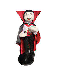 """•euv• Vintage 2003 •annalee Dracula Doll On Stand• Approx. 28"""""""