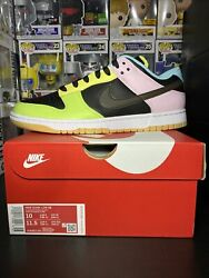 Nike Dunk Low Se And039black Free.99and039 Menand039s Size 10 Fast Ship In Hand Dh0952-001