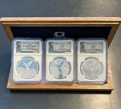2015 Mexico Silver Libertad 3 Coin Set Ngc Pf70 Ms70 And Pl70 Only 1000 Minted