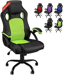 Gaming Chair Green Office Computer Chair Racing Tall Video Game Chairs High Back