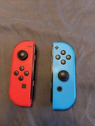 Neon Blue And Red Joy-con For Switch- No Box- No Strap