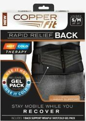 Copper Fit Rapid Relief Gel Pack Back Support -nib All Sizes Available