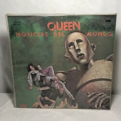Queen Lp News Of The World Uruguay Promo Stamp Plastic Cover Spanish Title Rare