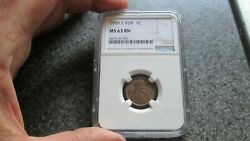 1909and039s Vdb Small Cent Graded Ngcandnbsp Ms63 Bn Rare Datefree Shipping Very Nice